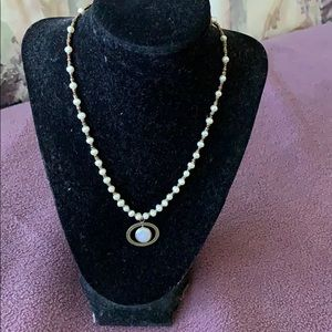 Silpada Bronze /Freshwater Pearl Necklace